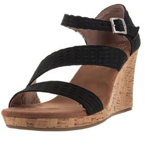 NWT: Toms Wedge Sandals